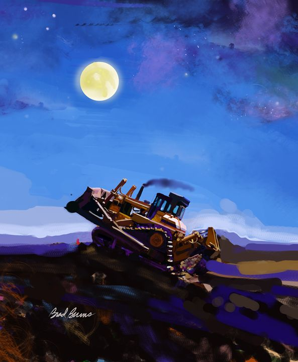 Night Push - Construction Fine Art