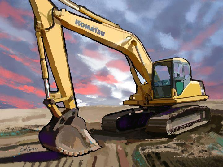 Komatsu PC200LC-7 Track Excavator - Construction Fine Art