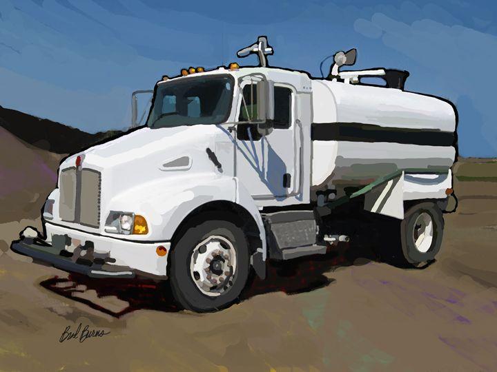 Water Truck - Construction Fine Art