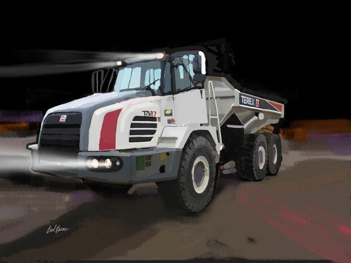 Terex Truck - Construction Fine Art