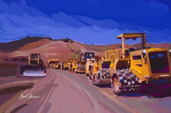Earthmover Line - Construction Fine Art