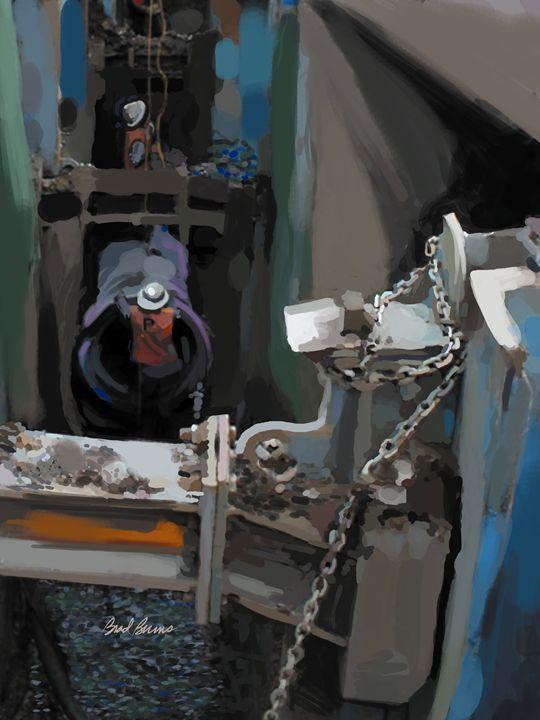 Blue Ditch - Construction Fine Art