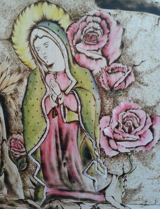 The Virgin Guadalupe - EC Pyro Art