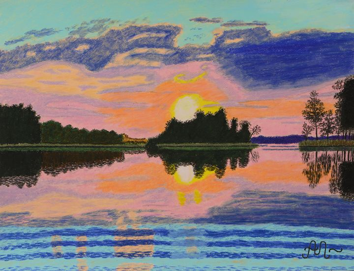 Summer sunset in Trakai, Lithuania - Anton's art from the heart