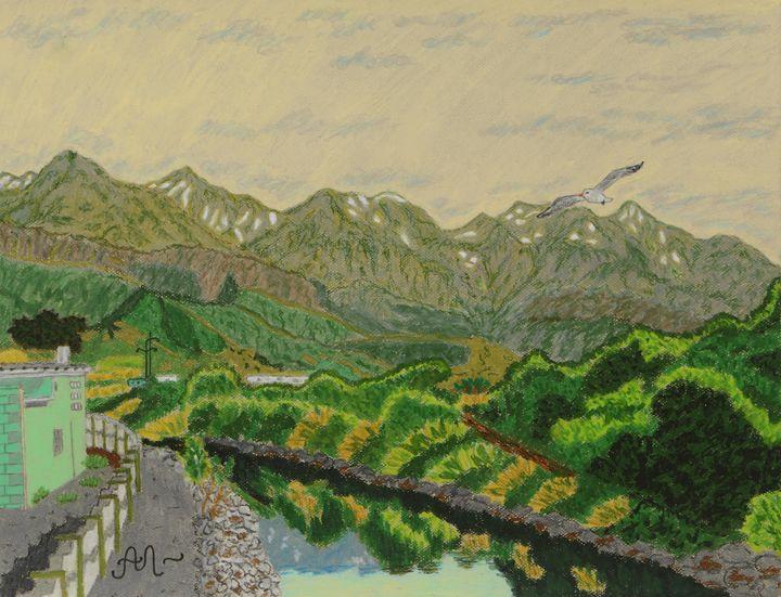 Mountains in Kaikoura, New Zealand - Anton's art from the heart