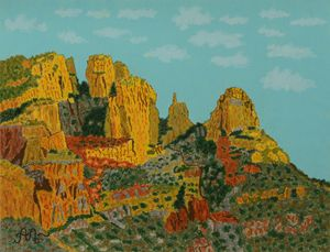 Finger Rock in Pima Canyon, AZ - Anton's art from the heart