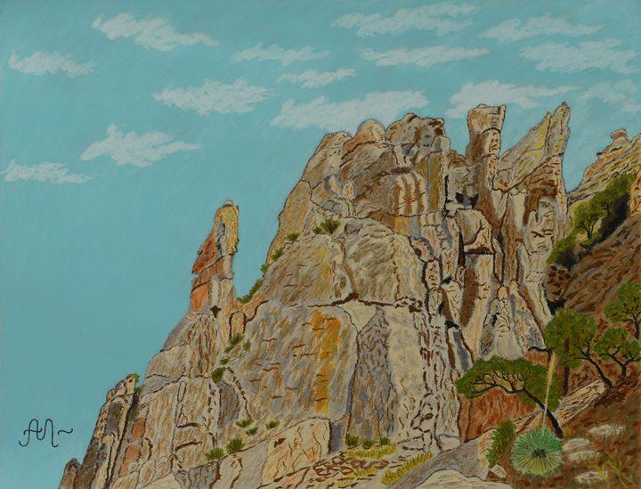 Eagle Rock in Sabino Canyon, AZ - Anton's art from the heart