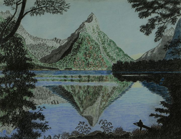 Serenity of Milford Sound, NZ - Anton's art from the heart