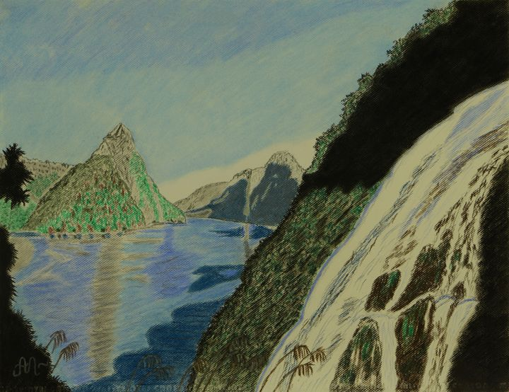 Bowen Falls in Milford Sound, NZ - Anton's art from the heart