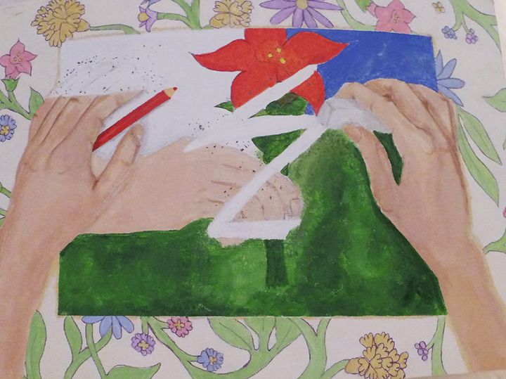 Erasing it All, Acrylic Painting - KnottsArt