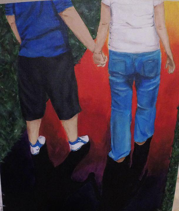 Rainbow Lane, Acrylic Painting - KnottsArt
