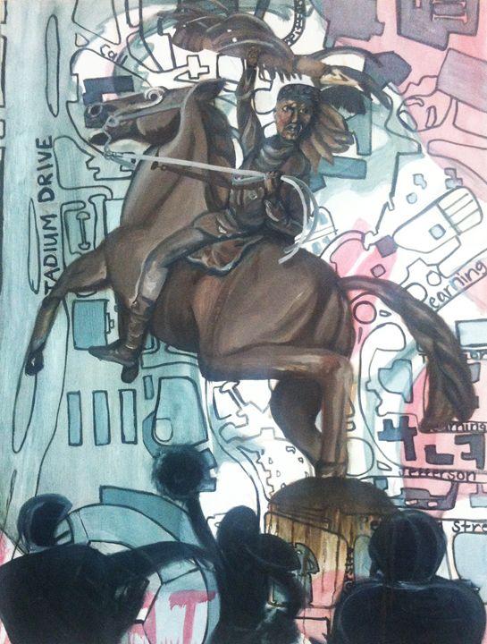 Unconquered Seminoles, Oil Painting - KnottsArt