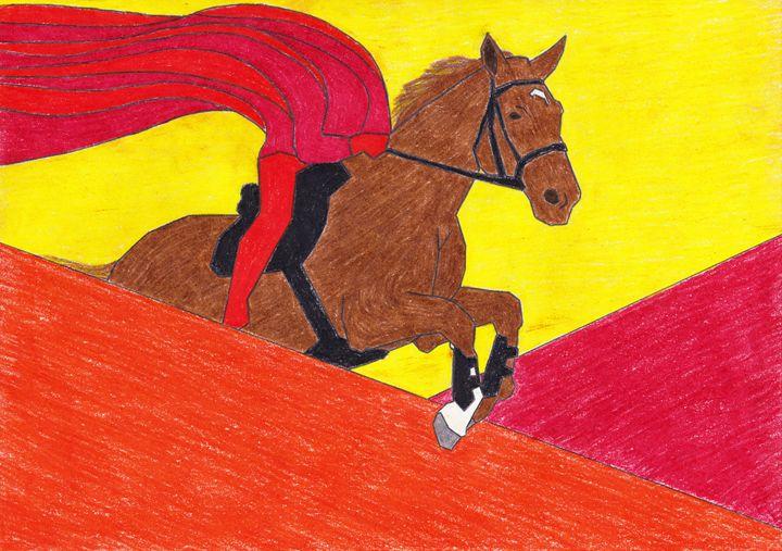 Flame on a Horse - Adrian Art