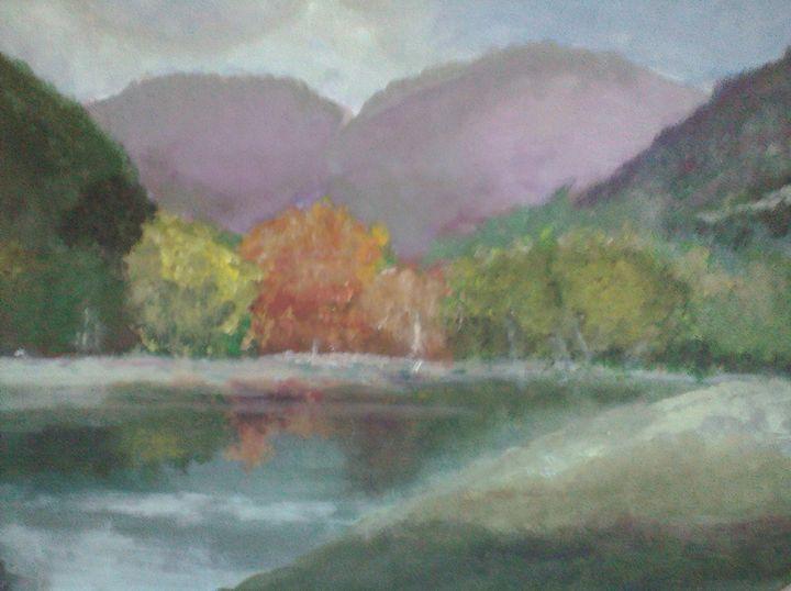 Lakeside Mountain - Asad Leo Nisar