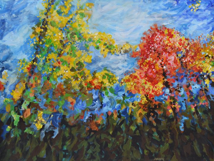 Autumn Backyard - George Sielski