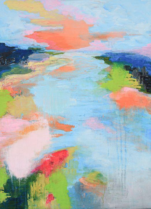 Sunset on the river - Oksana Belkina