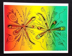 Dragonflies with Hopi designs