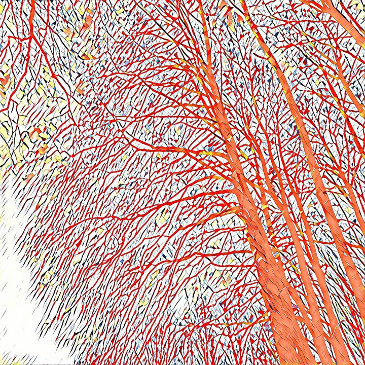 Expressionist Trees (orange) - NCL