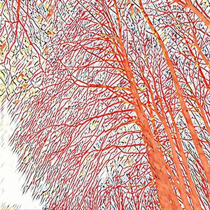 Expressionist Trees (orange)