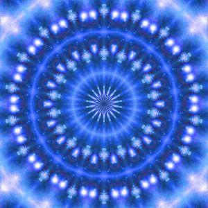 Sparkling Soul Mandala (blue)