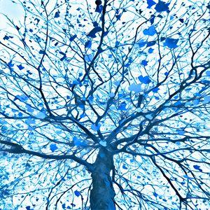 Elegant Tree (blue)