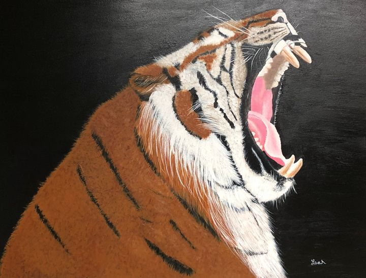 Yawning Tiger - Leah J Smith