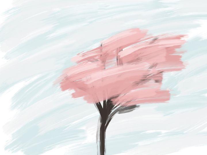 Digital Tree Oil Painting - HBKiitsu Arts