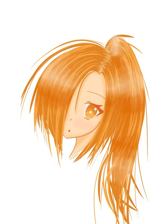 Ginger Anime Girl - HBKiitsu Arts