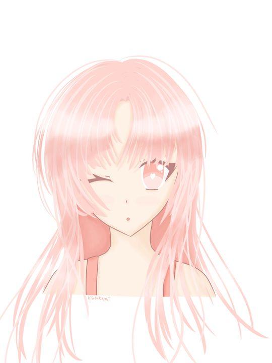 Pastel Anime Girl - HBKiitsu Arts
