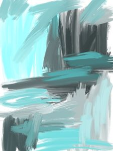 Blue and Gray Abstract
