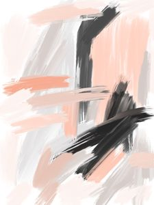 Coral and Gray Abstract