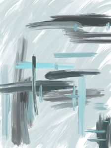 Gray and Blue Abstract
