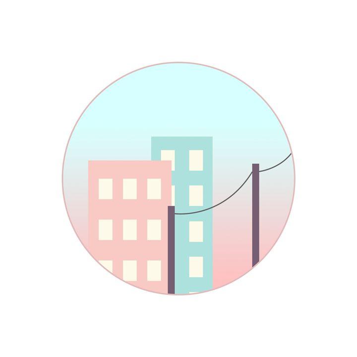 90s-Inspired Pastel City - HBKiitsu Arts