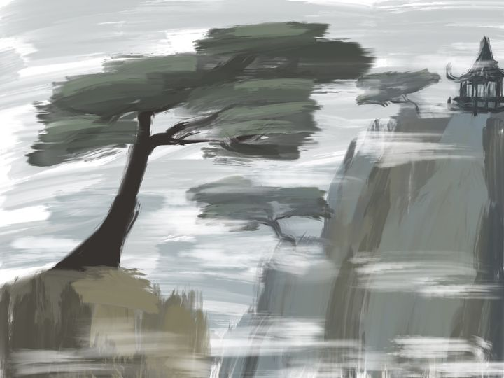 Chinese Trees and Mountains - HBKiitsu Arts