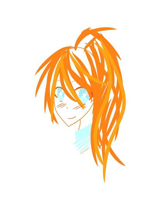 Simple Ginger Anime Girl - HBKiitsu Arts