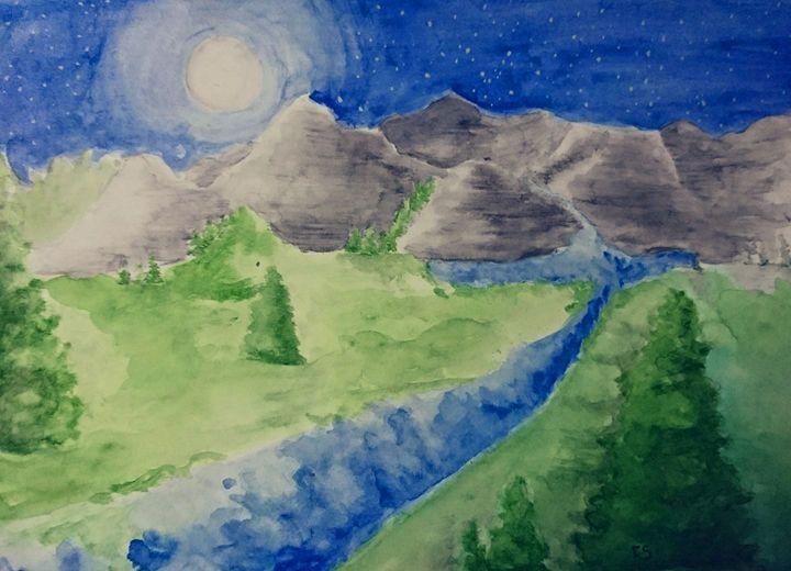 Midnight Mountains - Freespirit Art