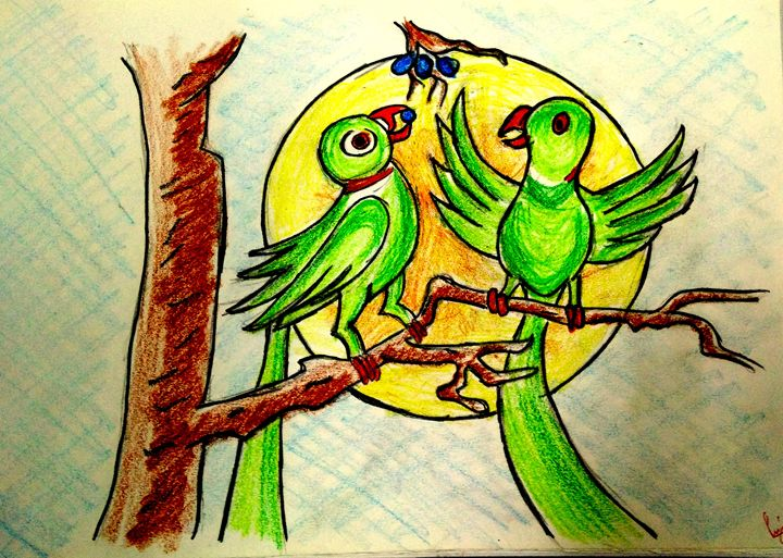 parrots and the sun - bluemoon