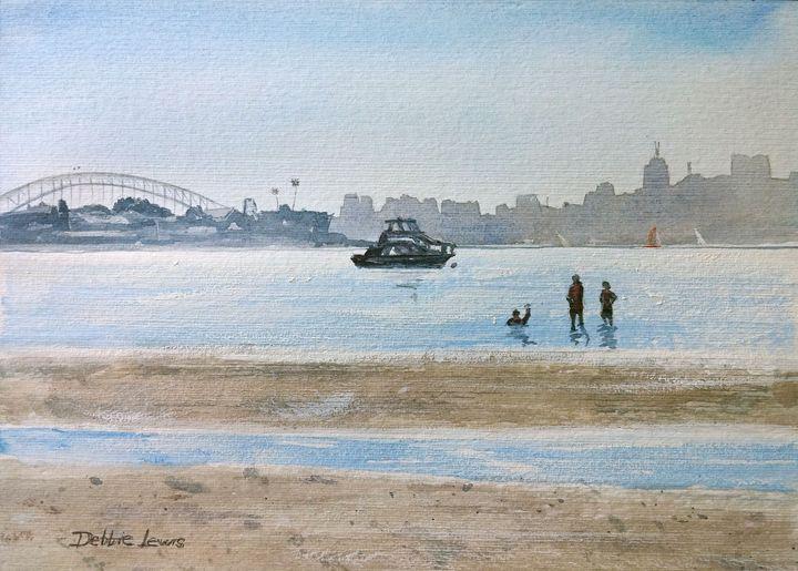 Low Tide at Rose Bay - Debbie Lewis Watercolors