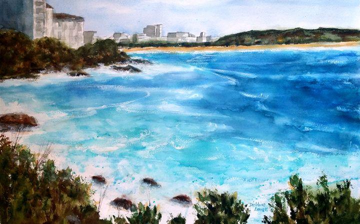 Wild Surf at Bondi Beach - Debbie Lewis Watercolors