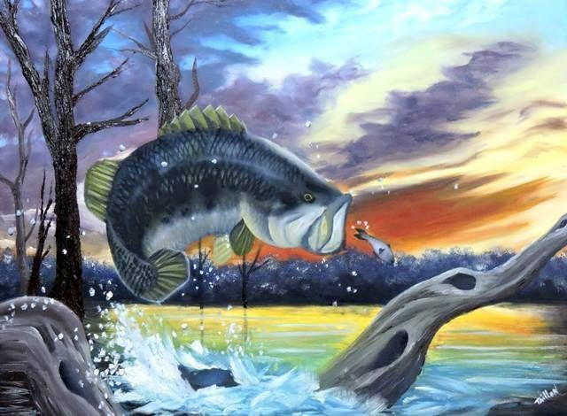 Um dia de Pesca - Taillon Luz Painting