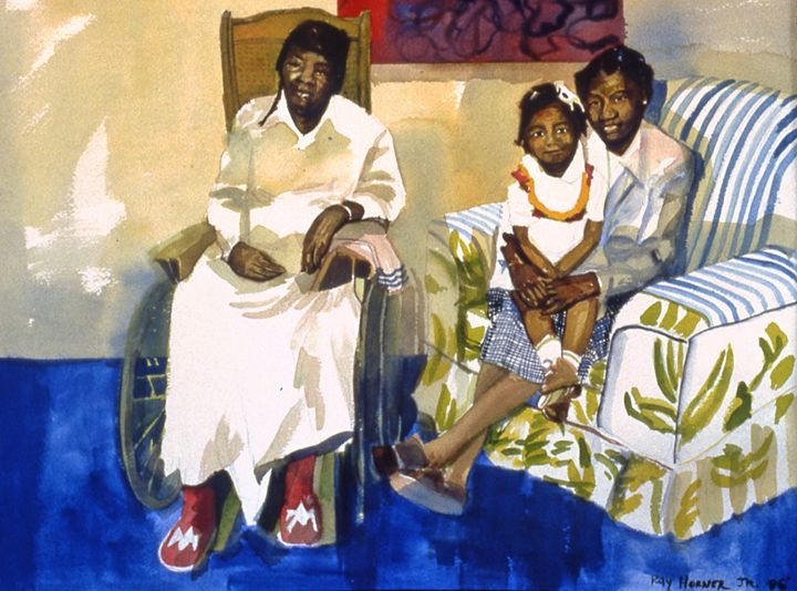 3 Generations of Love and Faith - Ray Horner Art Gallery