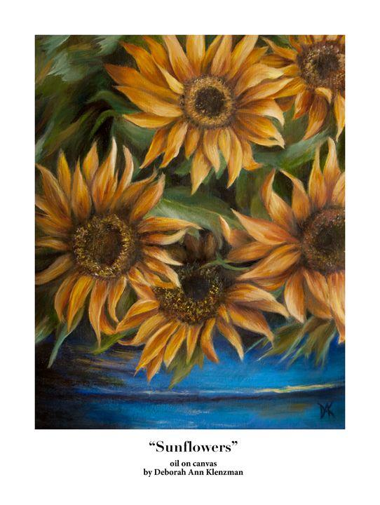 """Sunflowers"" art print - Progressive Portraits by Deborah Ann Klenzman"