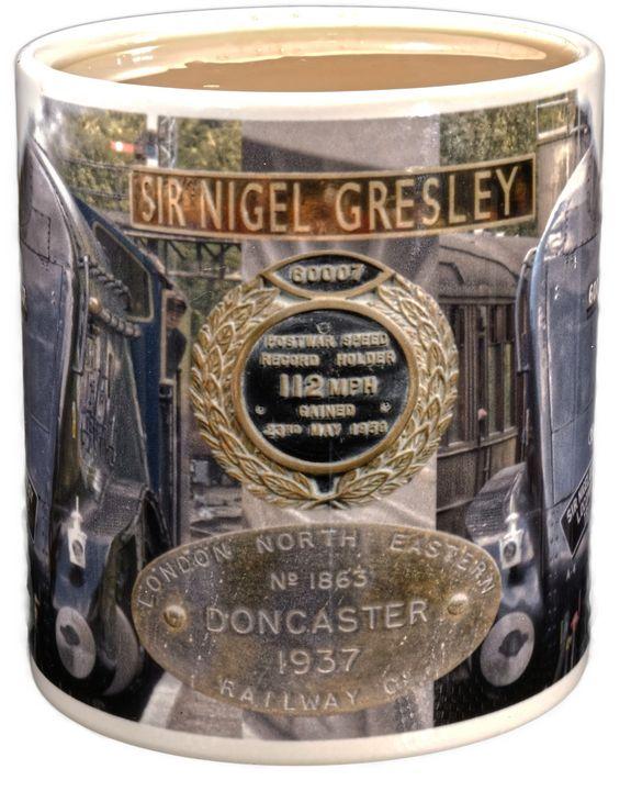 Sir Nigel Gresley A4 60007 mug - Edwin John