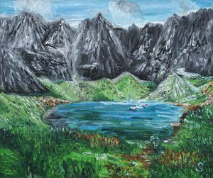 Green Duck Tarn High Tatra mountains