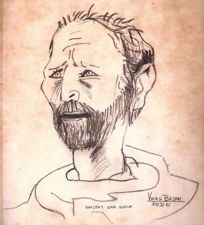 Vincent Van Gogh Portrait Copy - Dr Vikas Bajpai