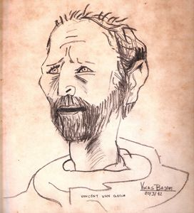 Vincent Van Gogh Portrait Copy