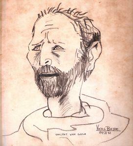 Vincent Van Gogh Portrait Copy