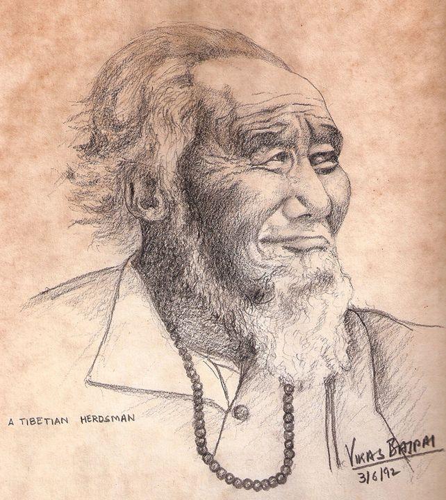 A Tibetian Herdsman - Dr Vikas Bajpai