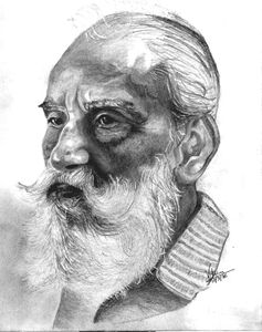 Indian painter Bhabesh C Sanyal
