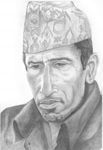 A Pensive Nepalese Ghorkha